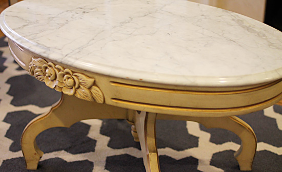 Oval White Marble Top This Coffee Table Was A No Brainer It