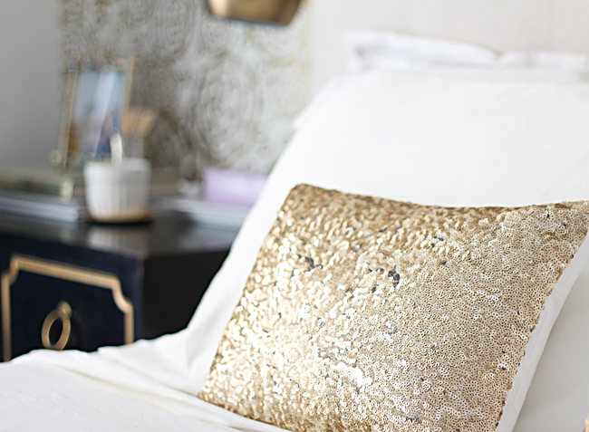 GoldSequinPillows