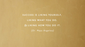 SuccessIsLikingYourself